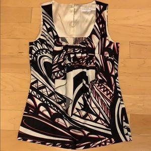 Trina Turk sleeveless silk blouse